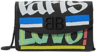 Balenciaga BB crossbody bag with chain