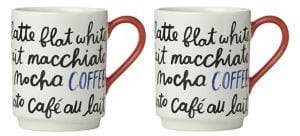 Kate Spade Set of Two Piping Hot Coffee Mug