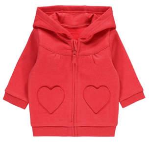 George Red Heart Pocket Hoodie