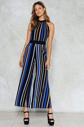 Nasty Gal Straight A's Stripe Jumpsuit
