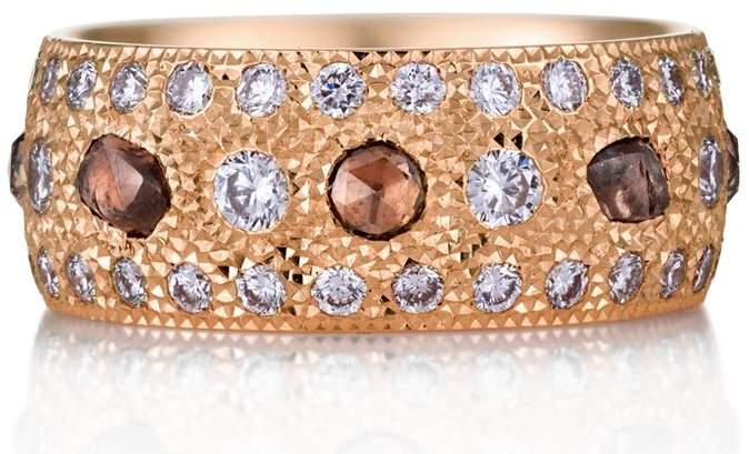 Rose Gold and Diamond Talisman Ring