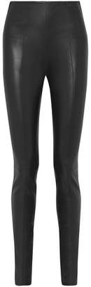 The Row Hailen Stretch-leather Leggings - Dark green