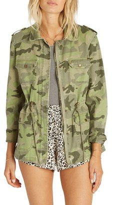 Women's Billabong Can'T See Me Camo Anorak $89.95 thestylecure.com
