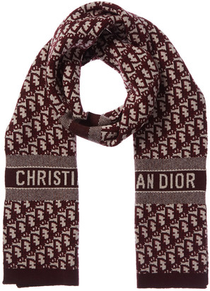 Christian Dior Oblique Wool & Cashmere-Blend Stole