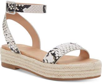INC International Concepts I.n.c. Women Valetta Woven Flatform Espadrilles, Women Shoes