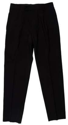 HUGO BOSS Boss by Wool Flat Front Pants black Boss by Wool Flat Front Pants
