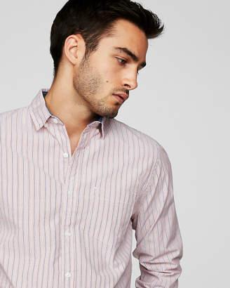 Express Classic Soft Wash Striped Button-Down Shirt