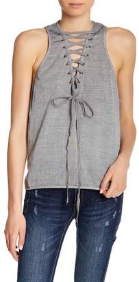 One Teaspoon Dirty Work Lace-Up Tank Top