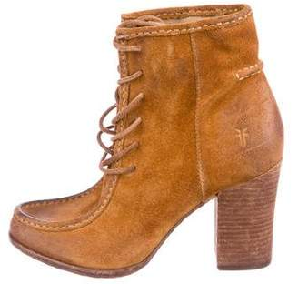 Frye Suede Lace-Up Booties