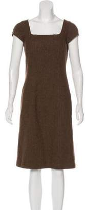 Ralph Lauren Black Label Patterned Wool Dress