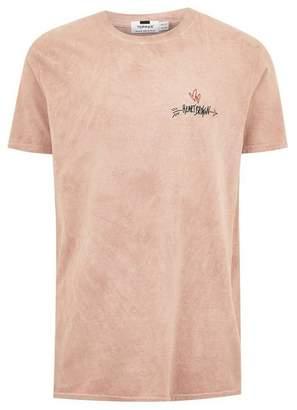 Topman Mens Washed Pink 'Heartbroken' T-Shirt