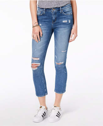 Flying Monkey Ripped Cropped Jeans