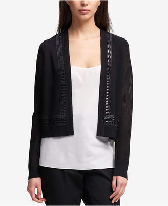 DKNY Studded Mesh-Sleeve Cardigan, Created for Macy's