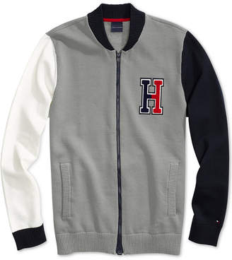 Tommy Hilfiger Adaptive Men Terrenz Baseball Jacket with Magnetic Zipper