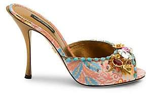Dolce & Gabbana Dolce& Gabbana Women's Jeweled Slide Sandals