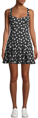 Fame & Partners The Farr Polka Dot Mini Dress
