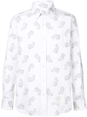 Thom Browne Embroidered Whale Oxford Shirt