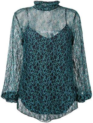 See by Chloe embroidered lace blouse