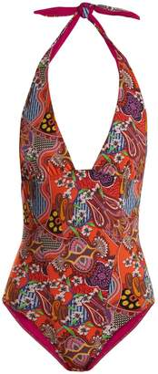 Etro Abstract floral-print swimsuit