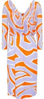 Emilio Pucci Wrap-Effect Printed Stretch-Jersey Dress