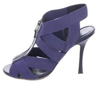 Sergio Rossi Zip-Up Strap Sandals Indigo Zip-Up Strap Sandals