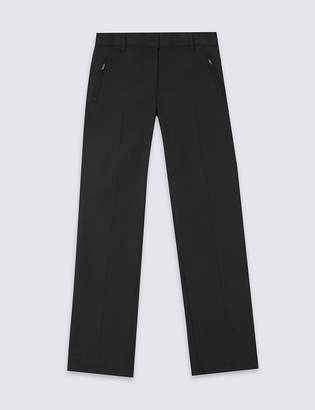 Marks and Spencer Girls' Slim Leg Plus Fit Trousers