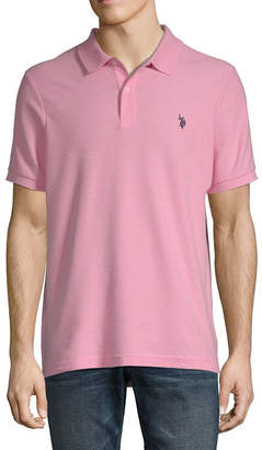 U.S. Polo Assn. USPA Embroidered Quick Dry Short Sleeve Pique Polo Shirt