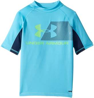 Under Armour Kids H20 Reveal Short Sleeve Rashguard Boy's Swimwear