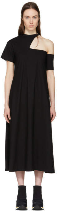 Black Cut-out Shoulder Dress