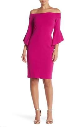 Bebe Off-The-Shoulder Scuba Dress
