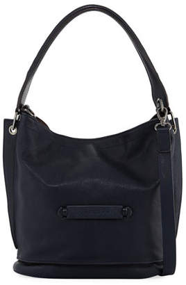 Longchamp 3D Leather Crossbody Bag, Midnight Blue