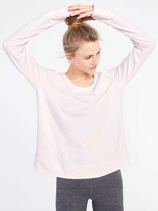 Lattice-Back Sweatshirt for Women