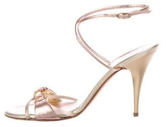 3cc9f156c2 Pre-Owned at TheRealReal · Giuseppe Zanotti Embellished Leather Sandals