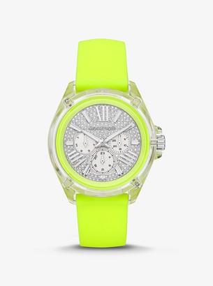 Michael Kors Wren Pave Neon Watch