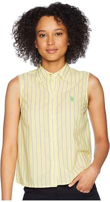 U.S. Polo Assn. Woven Sleeveless Top Women's Sleeveless