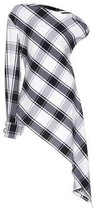 Monse Asymmetric silk-blend top