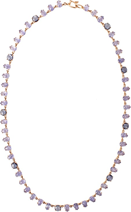 Irene Neuwirth JEWELRY Limited Edition Tanzanite And Sapphire Necklace