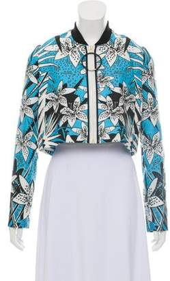 Just Cavalli Cropped Print Jacket w/ Tags