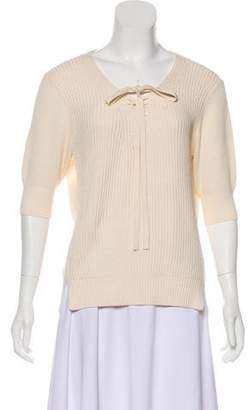Veronica Beard Short Sleeve Knit Sweater