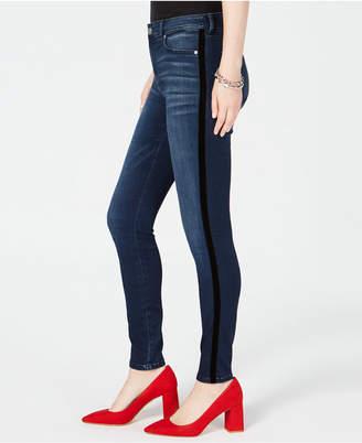 INC International Concepts I.n.c. Petite Velvet Racing Stripe Jeans