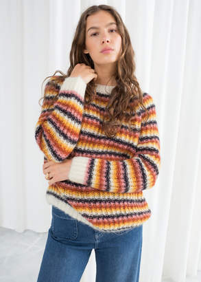 And other stories Striped Chunky Knit Sweater