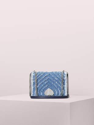 Kate Spade amelia jeweled medium convertible chain shoulder bag