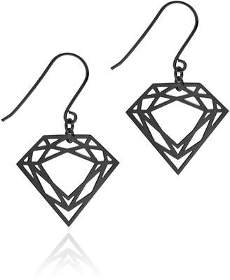 Myia Bonner Black Classic Diamond Earrings
