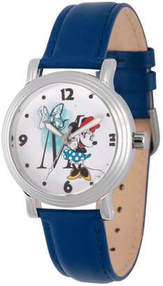 DISNEY MINNIE MOUSE Disney Minnie Mouse Womens Blue Strap Watch-Wds000255
