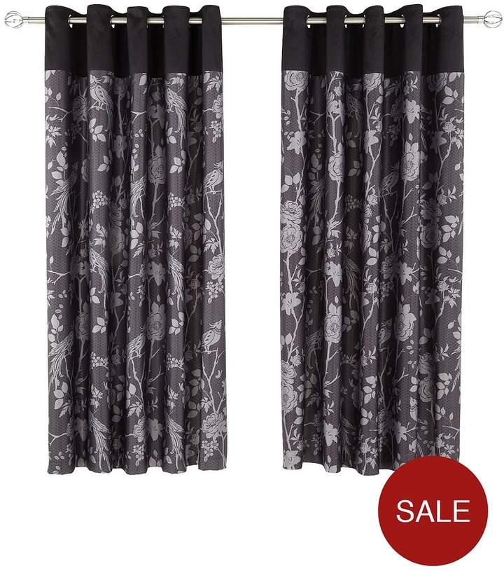 Royal Rose Garden Eyelet Curtains