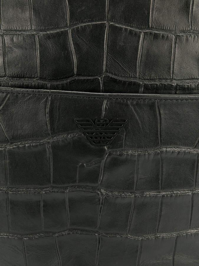 Emporio Armani croc effect backpack