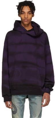 Amiri Purple Tie-Dye Shotgun Hoodie