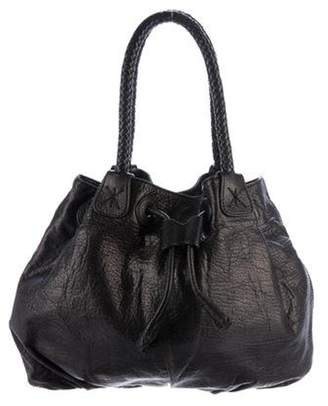 Carlos Falchi Pebbled Leather Hobo Black Pebbled Leather Hobo