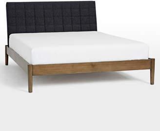 Rejuvenation Milo Channel Stitch Upholstered Bed