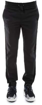 Versace Black Wool Velvet Ribbon Pants